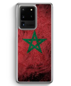 Samsung Galaxy S20 Ultra Hülle - Marokko Splash Flagge