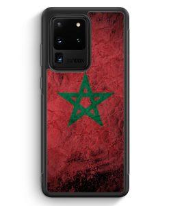 Samsung Galaxy S20 Ultra Silikon Hülle - Marokko Splash Flagge