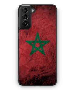 Samsung Galaxy S21+ Plus Silikon Hülle - Marokko Splash Flagge
