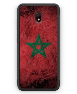 Xiaomi Redmi 8A Silikon Hülle - Marokko Splash Flagge