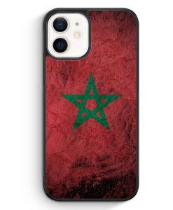 iPhone 12 mini Silikon Hülle - Marokko Splash Flagge