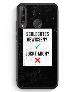 Huawei P40 lite E Silikon Hülle - Schlechtes Gewissen? Juckt Mich?