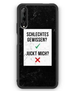 Huawei P Smart Pro Silikon Hülle - Schlechtes Gewissen? Juckt Mich?
