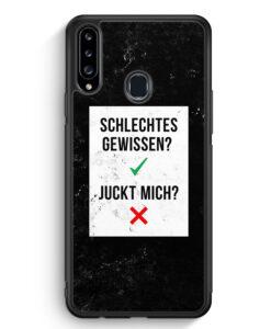 Samsung Galaxy A20s Silikon Hülle - Schlechtes Gewissen? Juckt Mich?