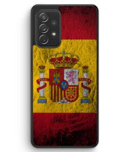 Spanien Splash Flagge - Silikon Hülle für Samsung Galaxy A72
