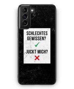 Samsung Galaxy S21+ Plus Silikon Hülle - Schlechtes Gewissen? Juckt Mich?