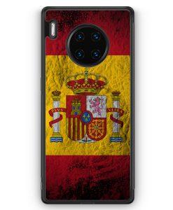 Huawei Mate 30 Pro Silikon Hülle - Spanien Splash Flagge