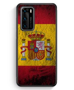 Huawei P40 Silikon Hülle - Spanien Splash Flagge