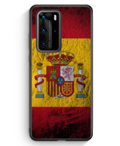 Huawei P40 Pro Silikon Hülle - Spanien Splash Flagge