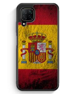 Huawei P40 lite Silikon Hülle - Spanien Splash Flagge