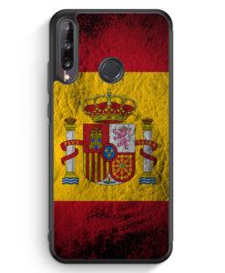 Huawei P40 lite E Silikon Hülle - Spanien Splash Flagge
