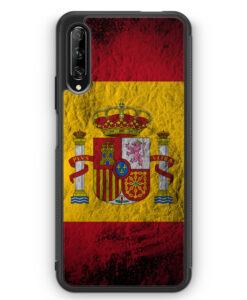 Huawei P Smart Pro Silikon Hülle - Spanien Splash Flagge