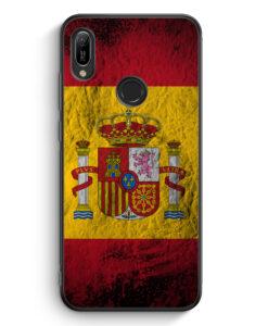 Huawei Y6s Silikon Hülle - Spanien Splash Flagge