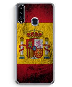 Samsung Galaxy A20s Hülle - Spanien Splash Flagge