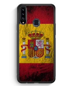 Samsung Galaxy A20s Silikon Hülle - Spanien Splash Flagge