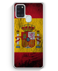 Samsung Galaxy A21s Hülle - Spanien Splash Flagge