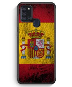 Samsung Galaxy A21s Silikon Hülle - Spanien Splash Flagge