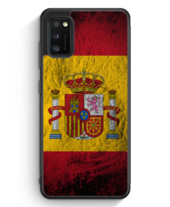 Samsung Galaxy A41 Silikon Hülle - Spanien Splash Flagge