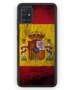 Samsung Galaxy A51 Silikon Hülle - Spanien Splash Flagge