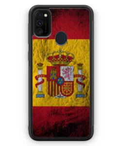 Samsung Galaxy M21 Silikon Hülle - Spanien Splash Flagge