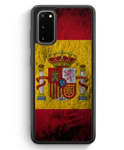 Samsung Galaxy S20 Silikon Hülle - Spanien Splash Flagge