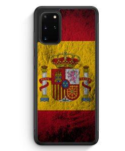 Samsung Galaxy S20+ Plus Silikon Hülle - Spanien Splash Flagge