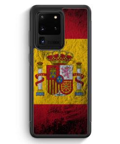 Samsung Galaxy S20 Ultra Silikon Hülle - Spanien Splash Flagge