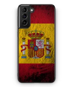 Samsung Galaxy S21+ Plus Silikon Hülle - Spanien Splash Flagge
