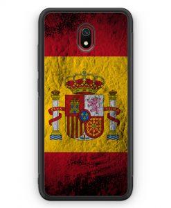 Xiaomi Redmi 8A Silikon Hülle - Spanien Splash Flagge