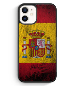 iPhone 12 mini Silikon Hülle - Spanien Splash Flagge