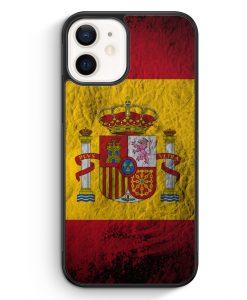 iPhone 12 mini Silikon Hülle - Spanien Splash Flagge