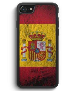 iPhone SE 2020 Silikon Hülle - Spanien Splash Flagge