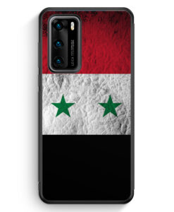 Huawei P40 Silikon Hülle - Syrien Splash Flagge