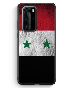 Huawei P40 Pro Silikon Hülle - Syrien Splash Flagge