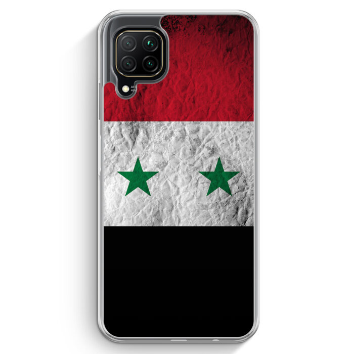 Huawei P40 lite Hülle - Syrien Splash Flagge