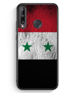 Huawei P40 lite E Silikon Hülle - Syrien Splash Flagge