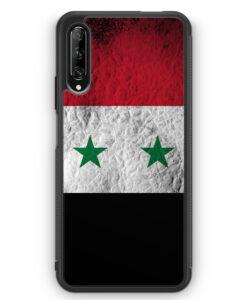 Huawei P Smart Pro Silikon Hülle - Syrien Splash Flagge