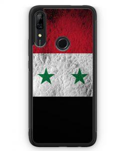 Huawei P Smart Z Silikon Hülle - Syrien Splash Flagge