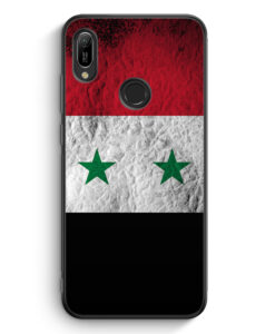 Huawei Y6s Silikon Hülle - Syrien Splash Flagge