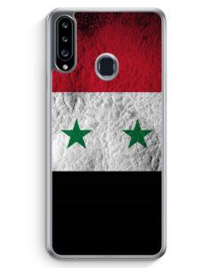 Samsung Galaxy A20s Hülle - Syrien Splash Flagge