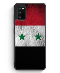 Samsung Galaxy A31 Silikon Hülle - Syrien Splash Flagge