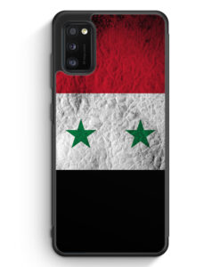 Samsung Galaxy A41 Silikon Hülle - Syrien Splash Flagge