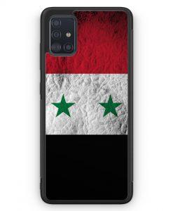 Samsung Galaxy A51 Silikon Hülle - Syrien Splash Flagge