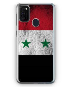 Samsung Galaxy M21 Hülle - Syrien Splash Flagge