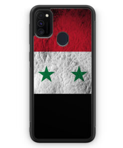 Samsung Galaxy M21 Silikon Hülle - Syrien Splash Flagge