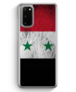 Samsung Galaxy S20 Hülle - Syrien Splash Flagge