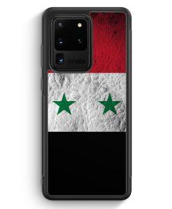 Samsung Galaxy S20 Ultra Silikon Hülle - Syrien Splash Flagge