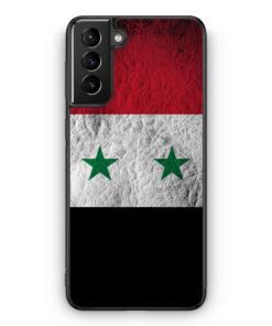 Samsung Galaxy S21+ Plus Silikon Hülle - Syrien Splash Flagge