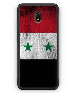 Xiaomi Redmi 8A Silikon Hülle - Syrien Splash Flagge
