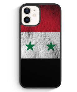 iPhone 12 mini Silikon Hülle - Syrien Splash Flagge